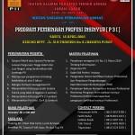 20 April 2016, Program Pembinaan Profesi Insinyur oleh IKA Teknik Unhas Jaban-Jabar, PII & ISP UNHAS Siap Digelar