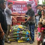 Bersama Antek, Irfan AB Salurkan Bantuan IKATEK UH Peduli Banjir Sulsel di Maros