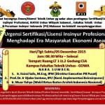 Seminar Urgensi Sertifikasi Insinyur Profesional Menghadapi Era Masyarakat Ekonomi ASEAN